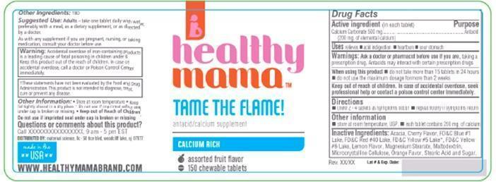 Healthy Mama Tame The Flame (Calcium Carbonate) Tablet, Chewable [Maternal Science, Llc]