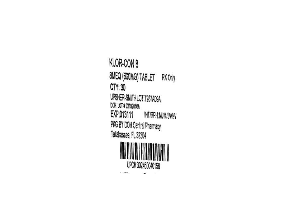 PRINCIPAL DISPLAY PANEL - 8mEq (600 mg) Label