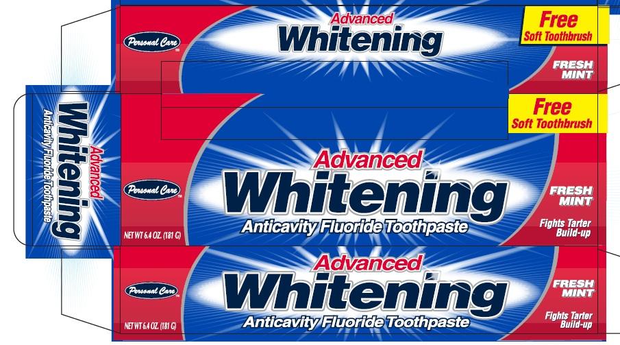Advanced Whitening Anticavity Fluoride (Sodium Monofluorophosphate) Paste, Dentifrice [Personal Care Products, Llc]
