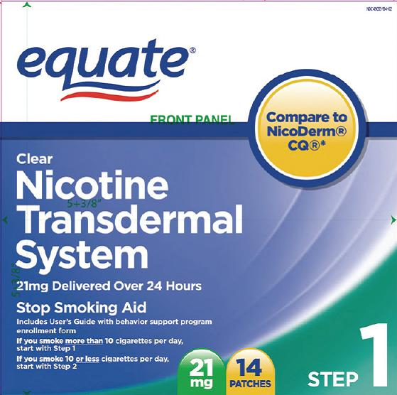 Nicotine Transdermal System (Nicotine) Patch, Extended Release [Wal-mart Stores Inc]