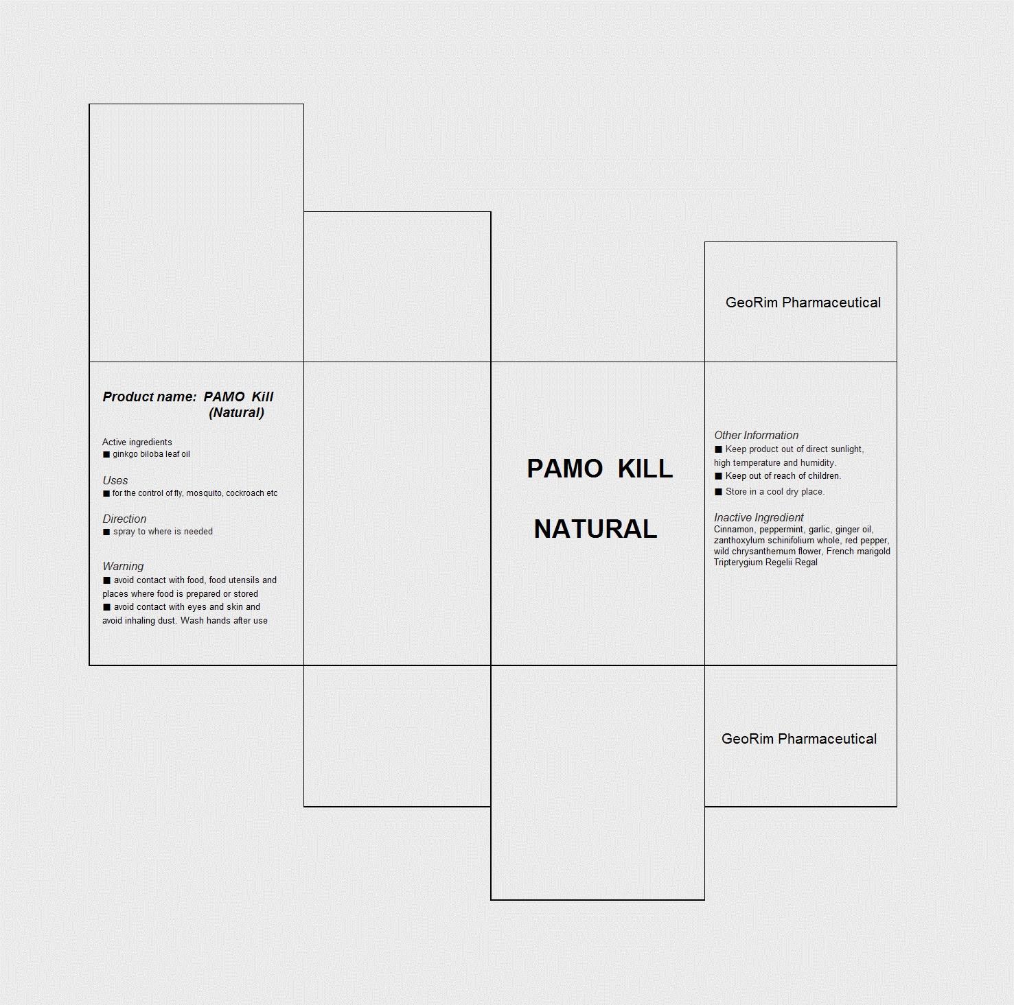 Pamo Kill Natural (Ginkgo Biloba Leaf Oil) Liquid [Georim Pharmaceutical]
