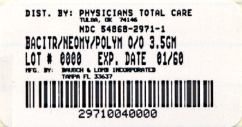 Neomycin and Polymyxin B Sulfates and Bacitracin Zinc Ophthalmic Ointment USP (Carton, 3.5 gram - Bausch & Lomb)