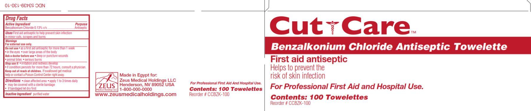 Cut Care Benzalkonium Chloride Antiseptic (Benzalkonium Chloride) Swab [Zeus Medical Holdings Llc]