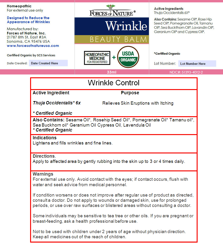 Wrinkle Control (Thuja Occidentalis Leaf) Solution/ Drops [Forces Of Nature]