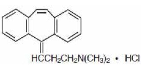 Cyclobenzaprine Hydrochloride Structural Formula
