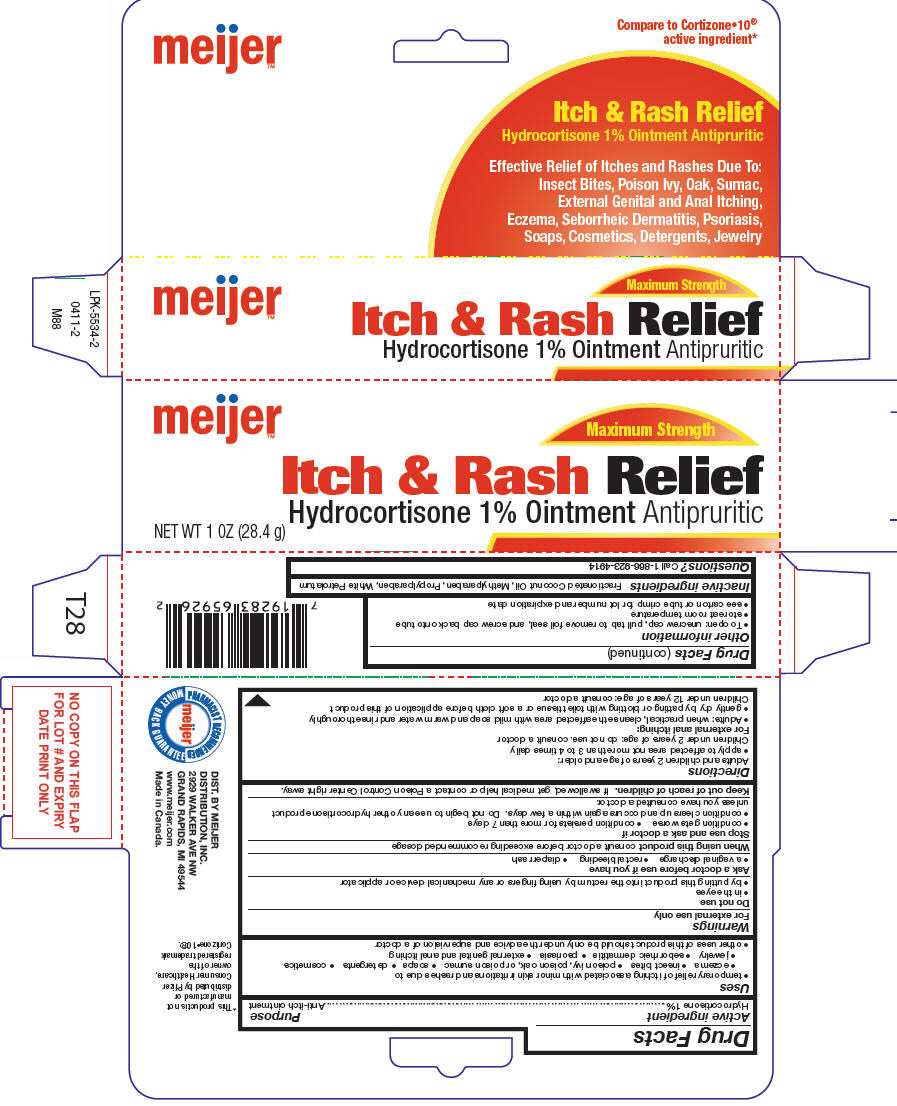 Meijer Itch And Rash Relief (Hydrocortisone) Ointment [Meijer Distribution Inc]