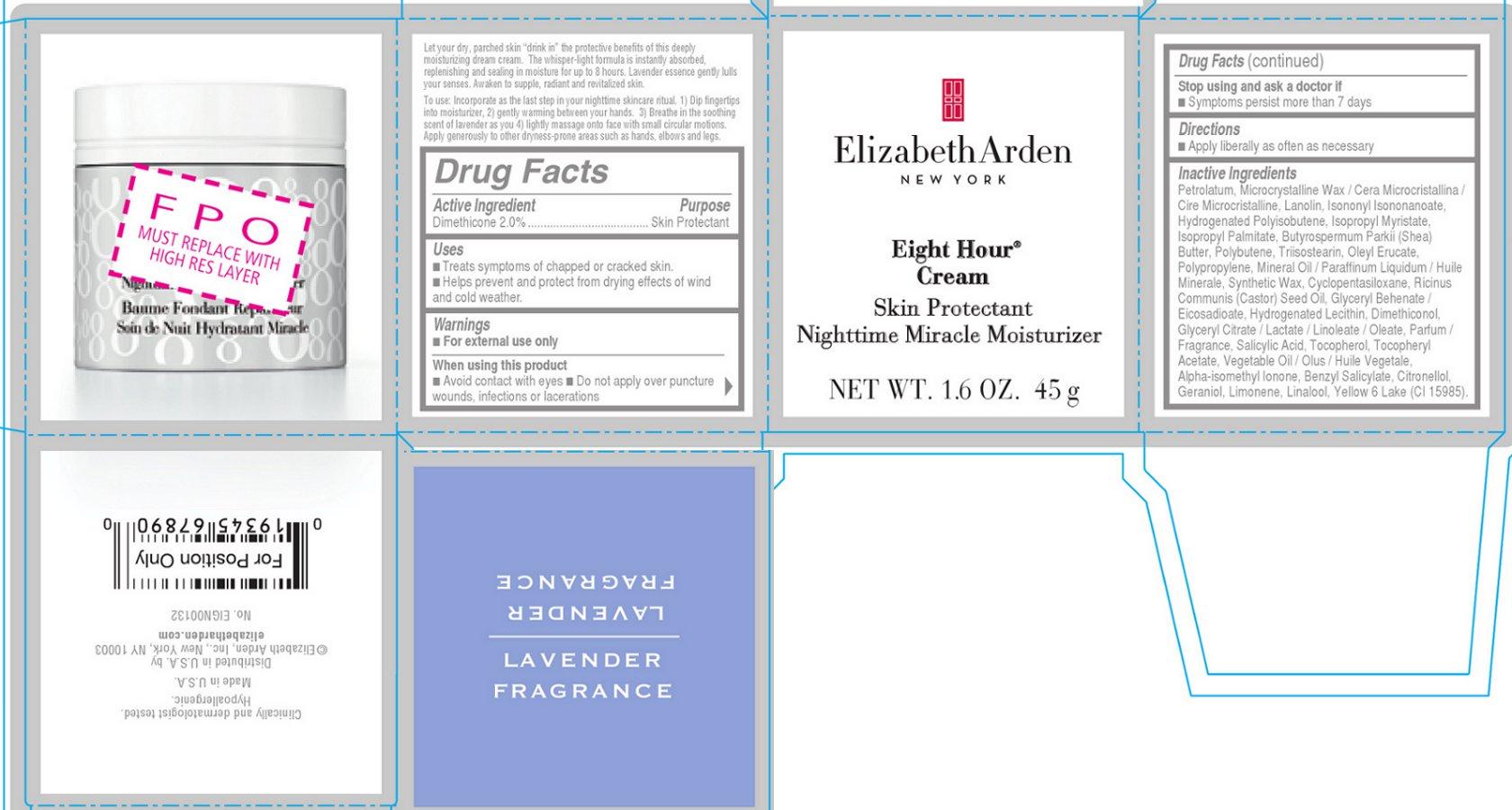 Eight Hour Cream Skin Protectant Nighttime Miracle Moisturizer (Dimethicone) Cream [Elizabeth Arden, Inc]