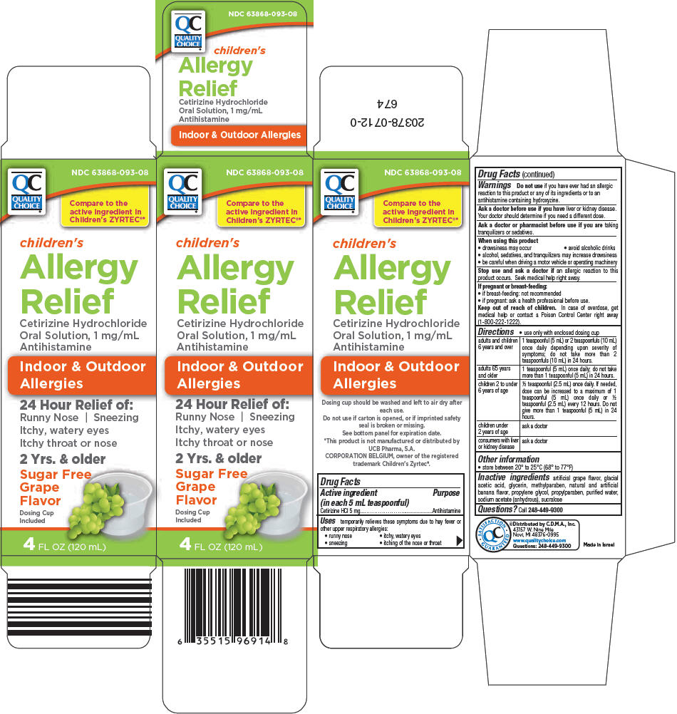 Quality Choice Childrens Allergy Relief (Cetirizine Hydrochloride) Solution [Chain Drug Marketing Association Inc.]