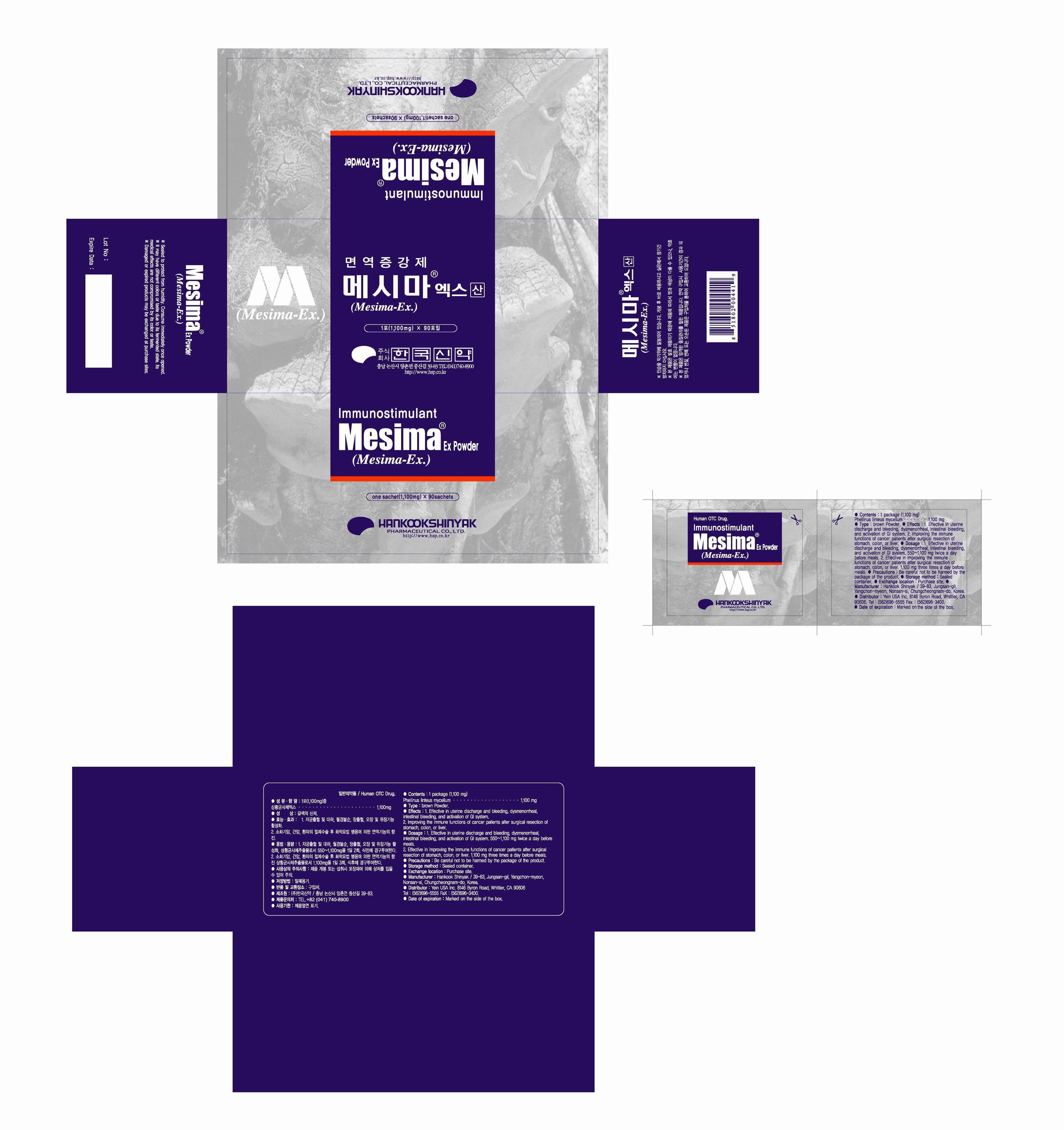 Messima Ex (Phellinus Linteus Mycelium) Powder [Yein Trading & Global Co., Ltd]