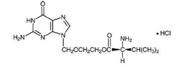 Structural Formula for valacyclovir hydrochloride