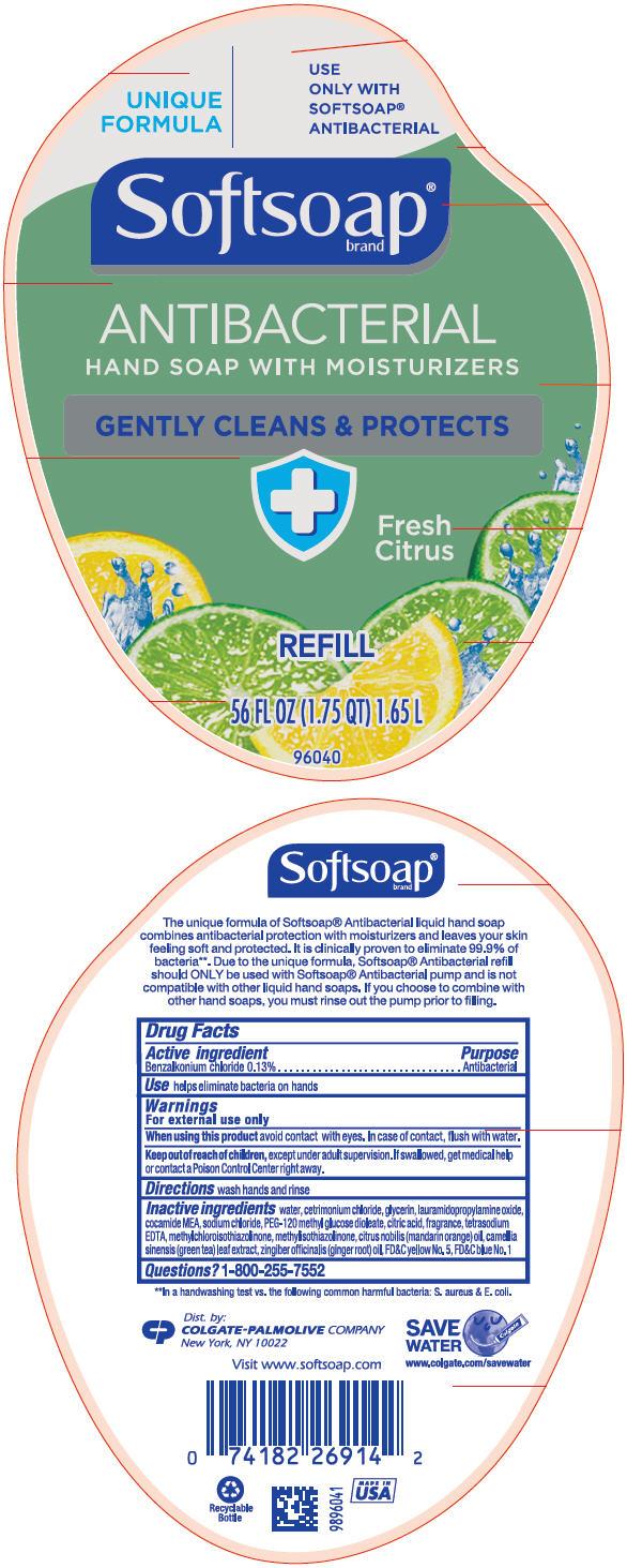 Softsoap Antibacterial With Moisturizers Fresh Citrus (Benzalkonium Chloride) Liquid [Colgate-palmolive Company]