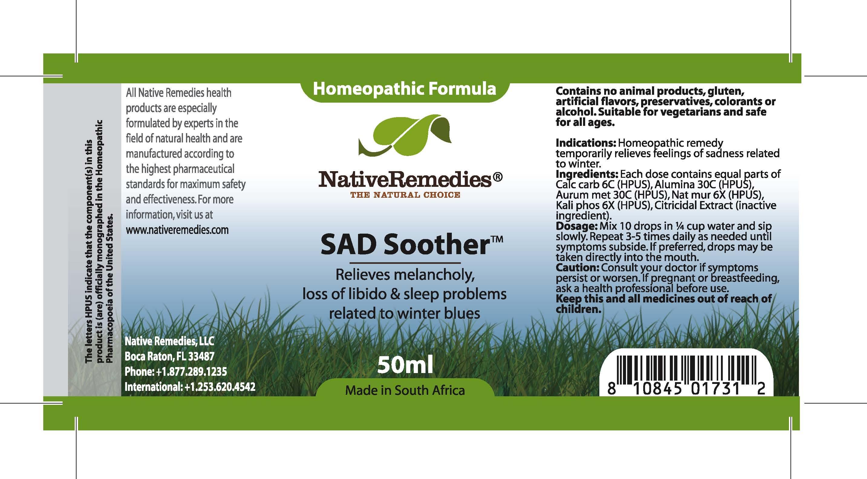Sad Soother (Calc Carb, Alumina , Aurum Met, Nat Mur , Kali Phos ) Tincture [Feelgood Health]