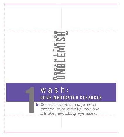 Rodan And Fields Unblemish 1 Wash Acne Medicated Cleanser (Sulfur ) Cream [Cosmetic Enterprises Ltd. ]