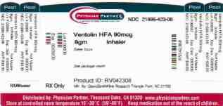 Ventolin container label