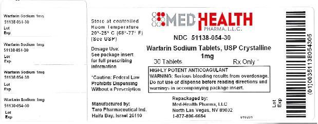 Warfarin Sodium Tablet [Med-health Pharma, Llc]
