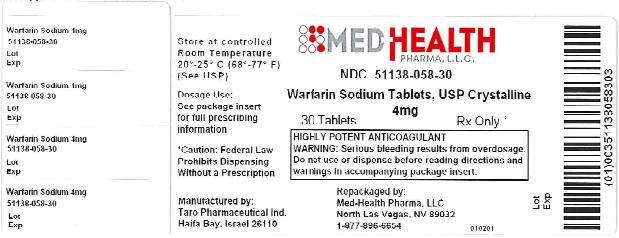 PRINCIPAL DISPLAY PANEL - 4 mg Tablet Bottle Label