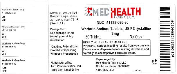PRINCIPAL DISPLAY PANEL - 6 mg Tablet Bottle Label