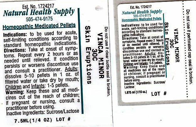 Skin Eruptions (Vinca Minor) Pellet [Natural Health Supply]