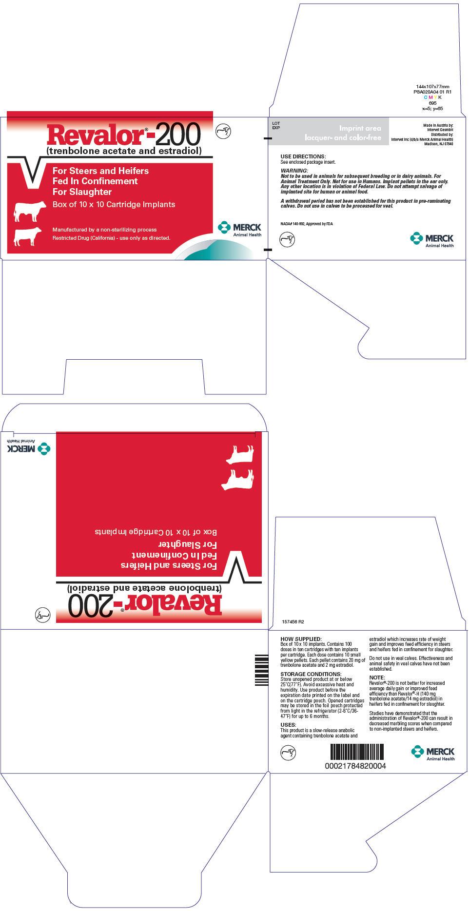 Revalor-200 (Trenbolone Acetate And Estradiol) Implant [Merck Sharp & Dohme Corp.]