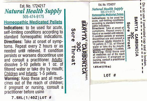 Sore Throat (Barium Cation) Pellet [Natural Health Supply]