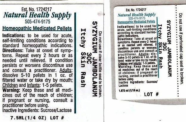 Itchy Skin Rash (Syzygium Cumini Seed) Pellet [Natural Health Supply]