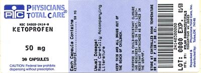 Ketoprofen Capsules 50 mg Bottles