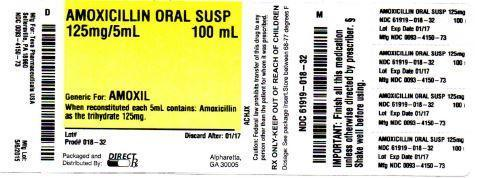 Amoxicillin (Amoxicillin Powder, For Suspension) For Suspension [Direct Rx]