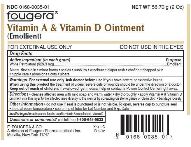 Vitamin A And Vitamin D Ointment [E. Fougera & Co. A Division Of Fougera Pharmaceuticals Inc.]