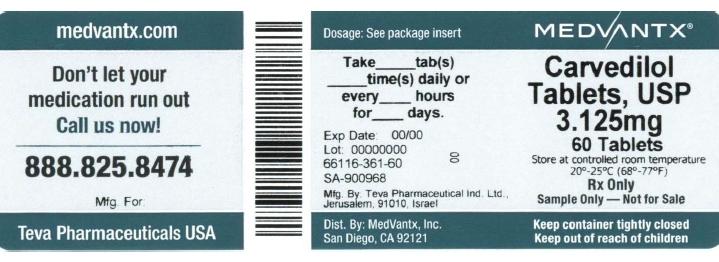 Carvedilol Tablet, Film Coated [Medvantx, Inc.]