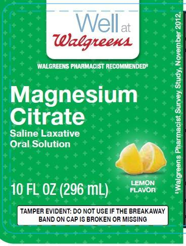 Magnesium Citrate Liquid [Walgreen Co]