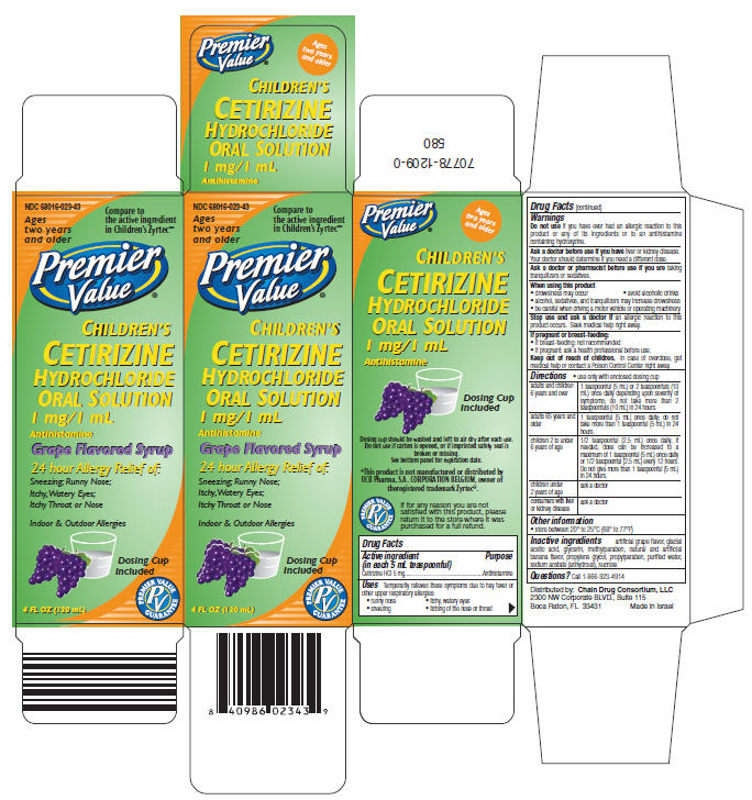 Childrens Cetirizine Hydrochloride (Cetirizine Hydrochloride) Solution [Chain Drug Consortium, Llc (Premier Value)]