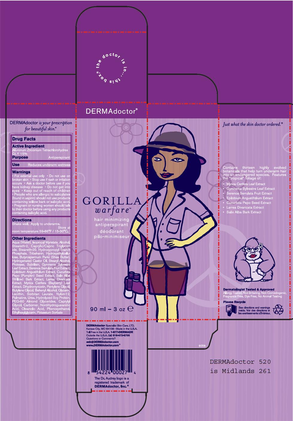 Gorilla Warfare (Aluminum Zirconium Tetrachlorohydrex Gly) Lotion [G.s. Cosmeceutical Usa, Inc.]