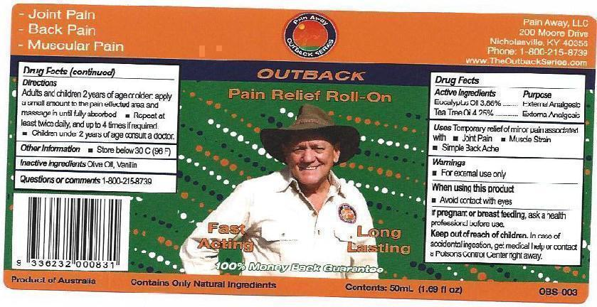 Out Back Pain Relief Roll-on (Eucalyptus Oil And Tea Tree Oil) Oil [Ultra Mix (Aust) Pty Ltd ]