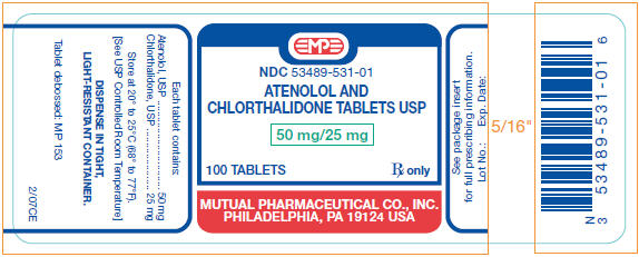 Atenolol And Chlorthalidone Tablet [Mutual Pharmaceutical Company, Inc.]