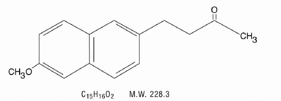 Structural formula of Nabumetone