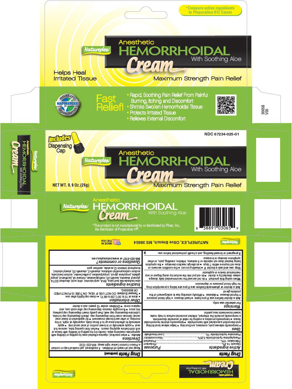 Natureplex Hemorrhoidal (Glycerin, Phenylephrine Hydrochloride, Pramoxine Hydrochloride, And Petrolatum) Cream [Natureplex Llc]