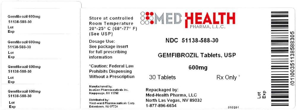 Gemfibrozil Tablet, Film Coated [Med-health Pharma, Llc]