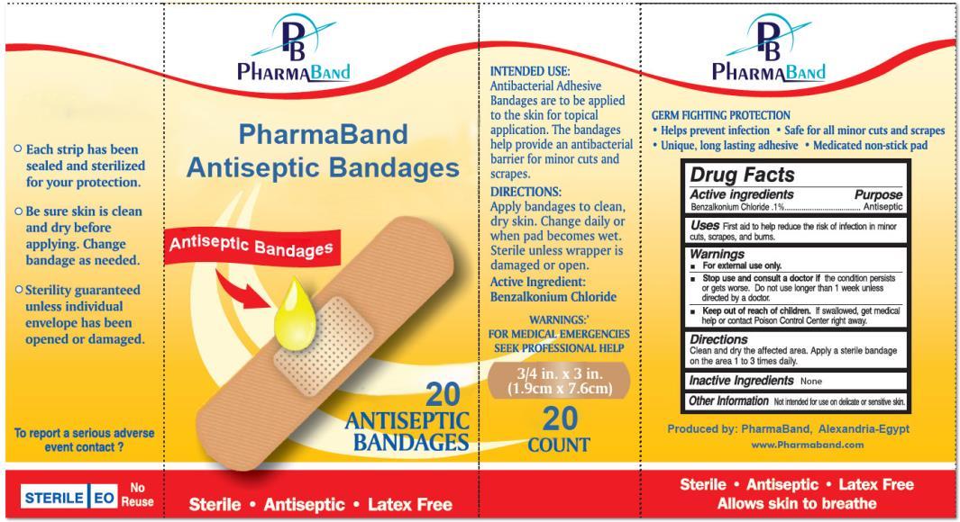 Antiseptic Bandages (Benzalkonium Chloride) Dressing [Pharmaband]