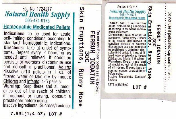 Skin Eruptions Runny Nose (Ferrous Iodide) Pellet [Natural Health Supply]