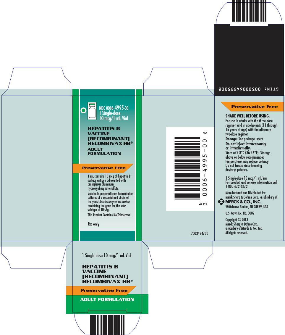 PRINCIPAL DISPLAY PANEL - 1 mL Vial Carton - 4995