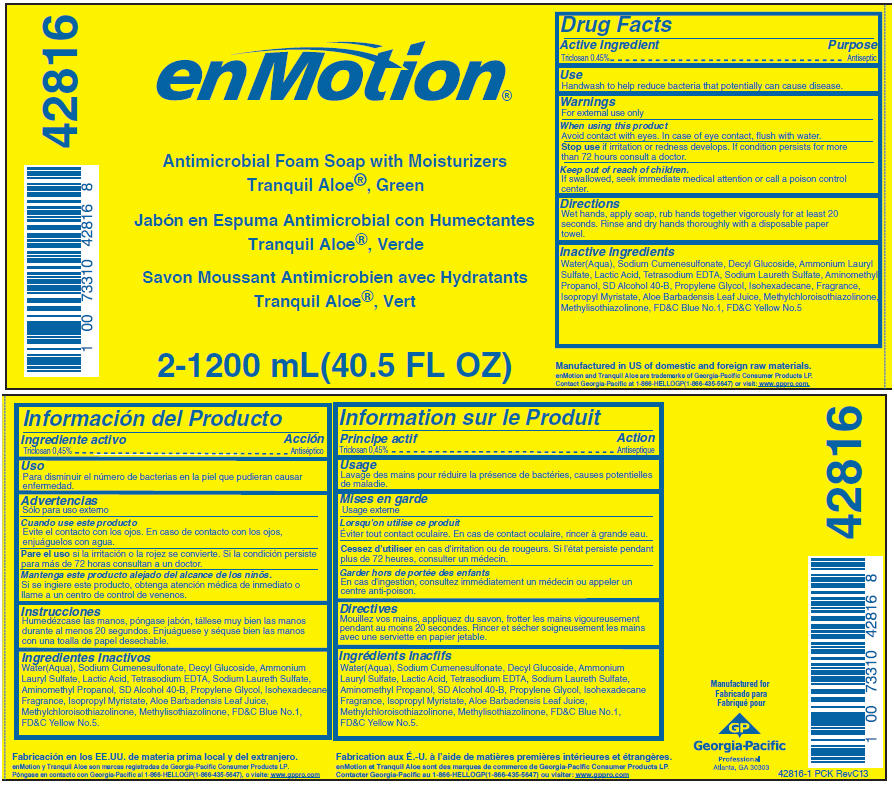 Enmotion Antimicrobial With Moisturizers, Tranquil Aloe, Green (Triclosan) Soap [Georgia-pacific Consumer Products Lp]