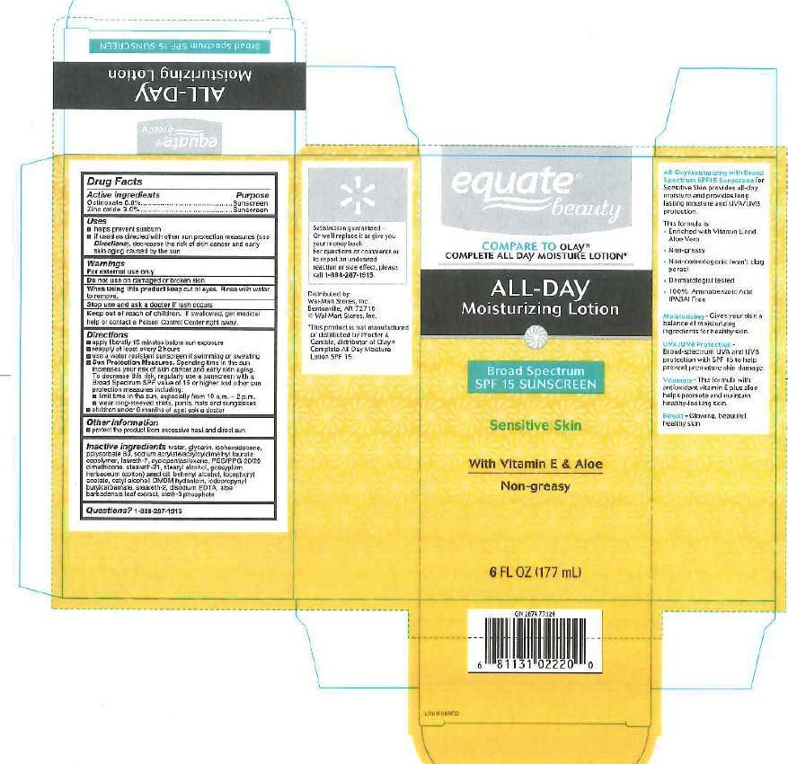 All Day Moisturizing (Octinoxate, Zinc Oxide) Lotion [Wal-mart Stores, Inc]