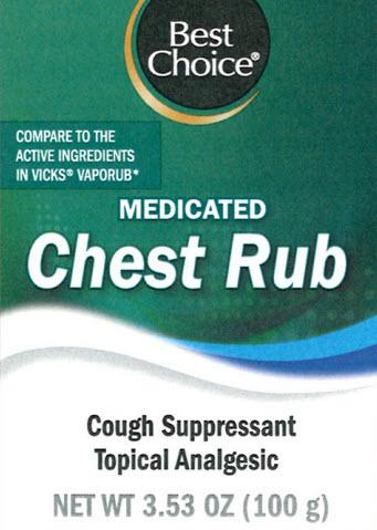 Chest Rub (Camphor, Eucalyptus Oil, Menthol) Cream [Valu Merchandisers, Co]