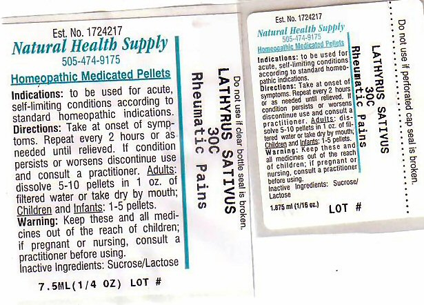 Rheumatic Pains (Lathyrus Sativas Seed) Pellet [Natural Health Supply]