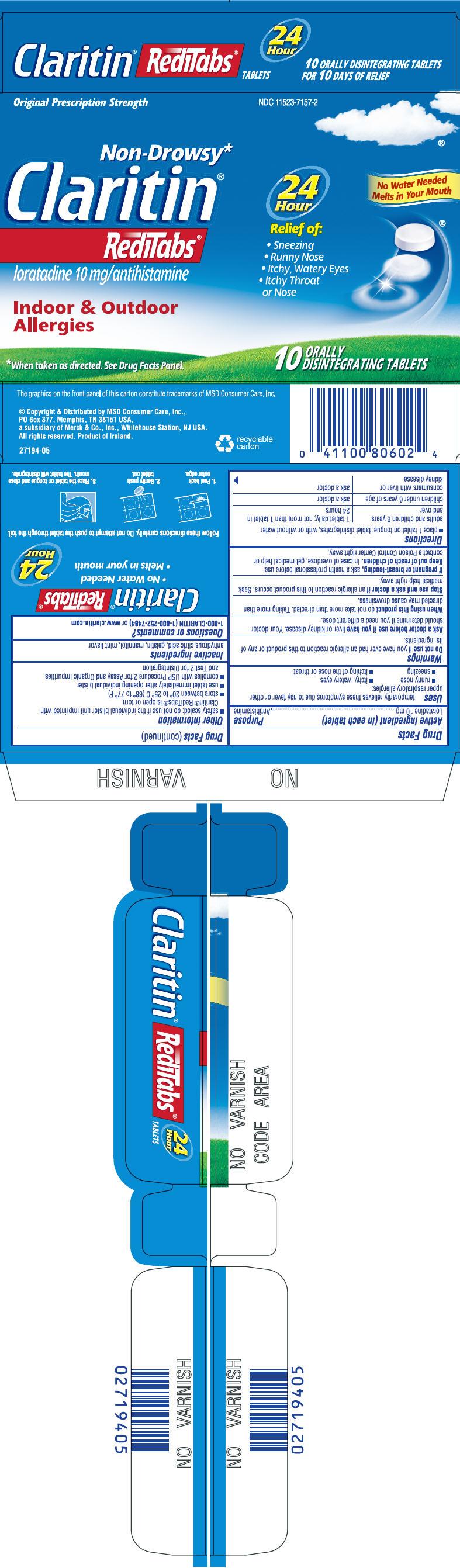 Claritin Reditabs (Loratadine) Tablet, Orally Disintegrating [Msd Consumer Care, Inc.]