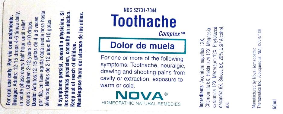 Toothache Complex (Aconitum Napellus, Chamomilla, Hekla Lava, Magnesia Carbonica, Mezereum, Phytolacca Decandra, Silicea) Liquid [Nova Homeopathic Therapeutics, Inc.]