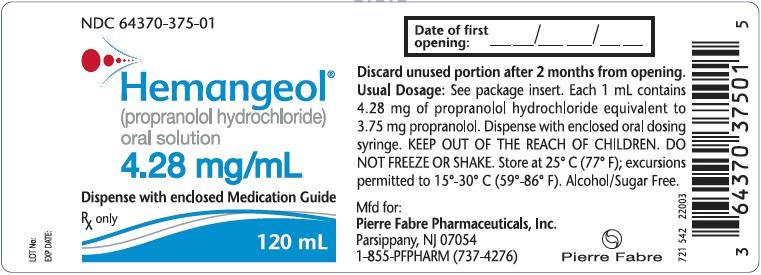 Hemangeol (Propranolol Hydrochloride) Solution [Pierre Fabre Pharmaceuticals, Inc.]