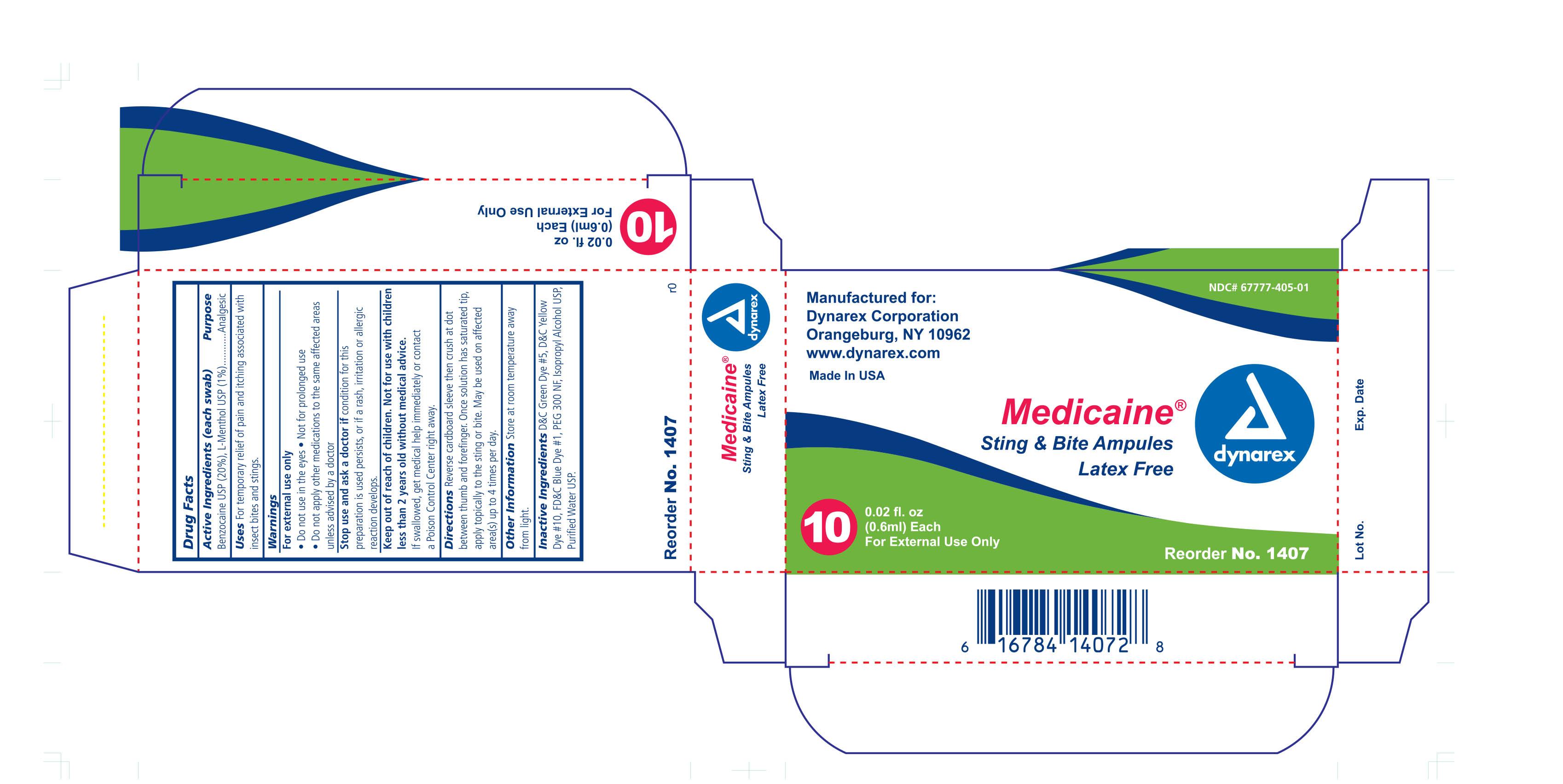 Medicaine Sting And Bite (Benzocaine) Swab [Dynarex Corporation]