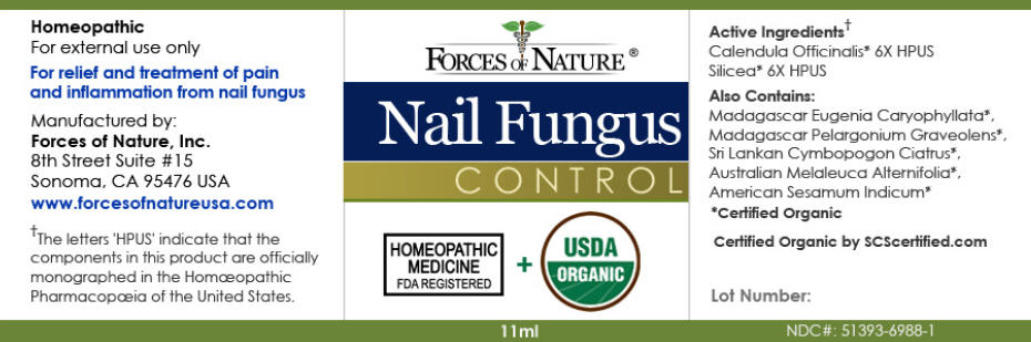 Nail Fungus Control (Calendula Officinalis Flowering Top And Silicon Dioxide) Solution/ Drops [Forces Of Nature]