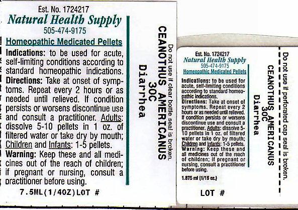 Diarrhea (Ceanothus Americanus Leaf) Pellet [Natural Health Supply]